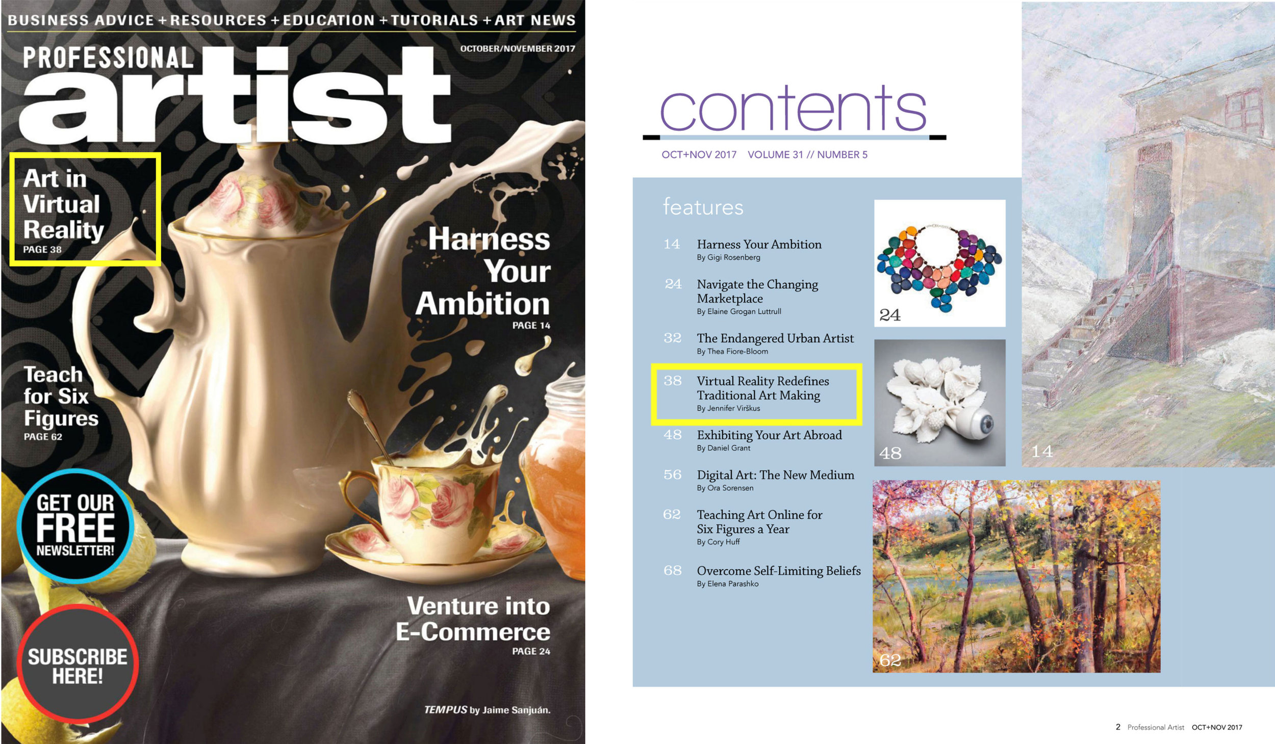 Professional Artist Magazine - Oct/Nov 2017
