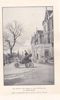Queen Victoria was also worried about climate change. Her Majesty drove an electric car.