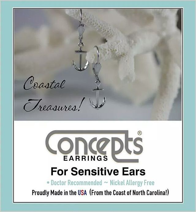 Get that special pair that will send them back to school in style.  Concepts Earrings for Sensitive Ears are available at the Silver King Jewelry.  #silver #Concepts #PortAransas #OldTownCottages