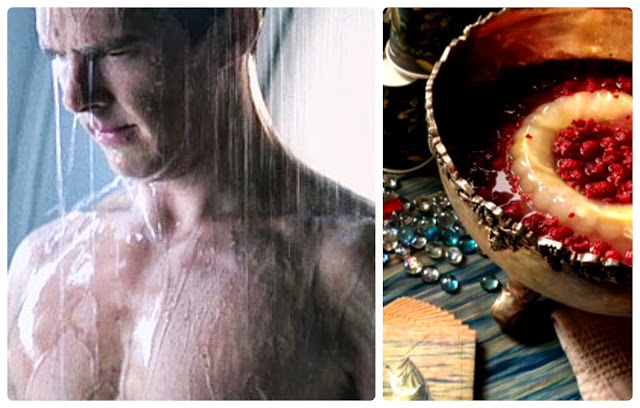 Benedict Cumberbatch, his chest, and a punch bowl