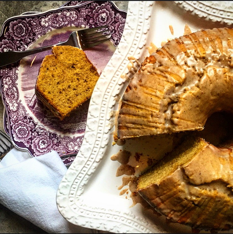 Pumpkin Pound Cake with Whiskey Sauce
