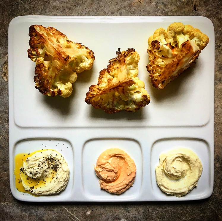 Roasted Cauliflower with Whipped Feta