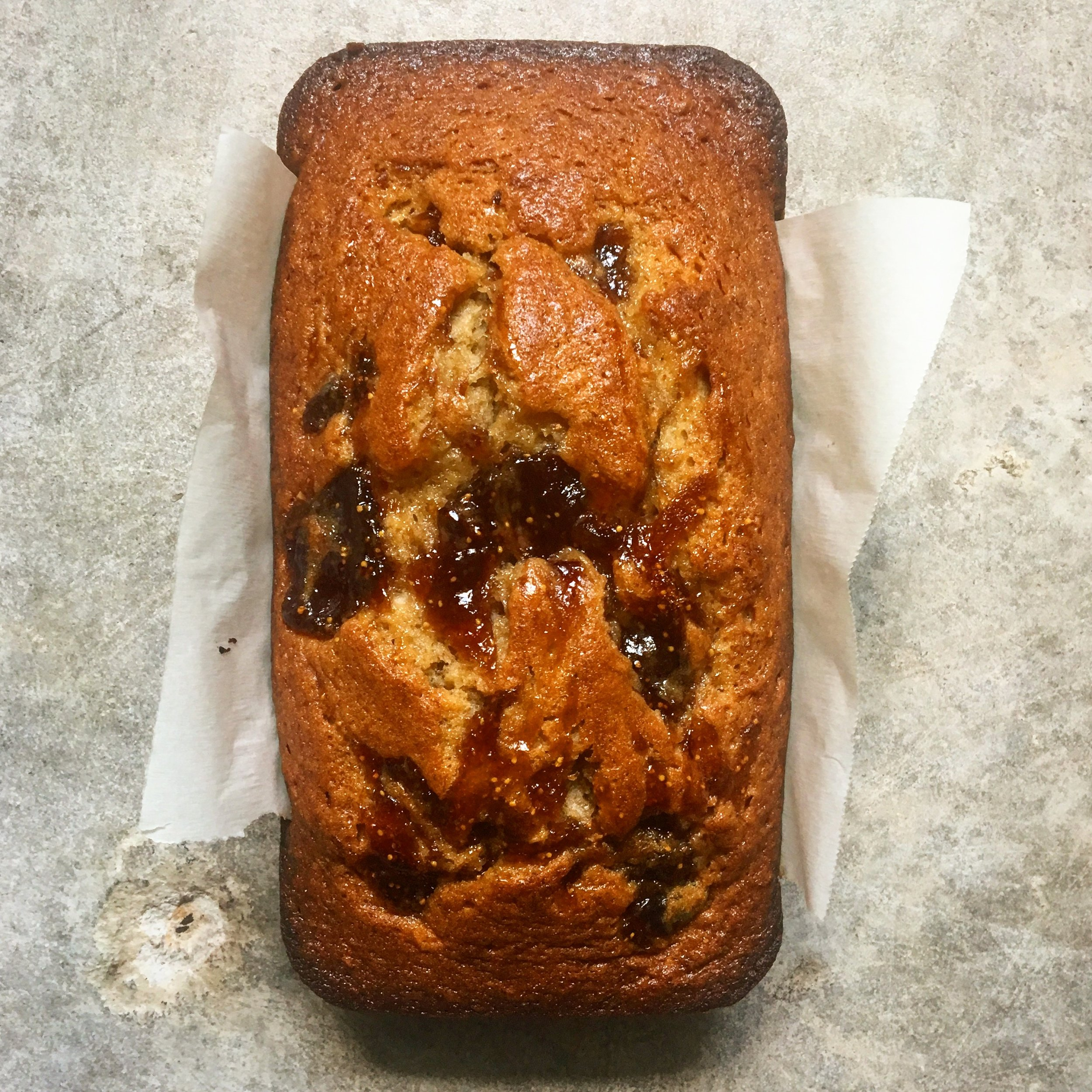 Banana Bread with Fig Swirl