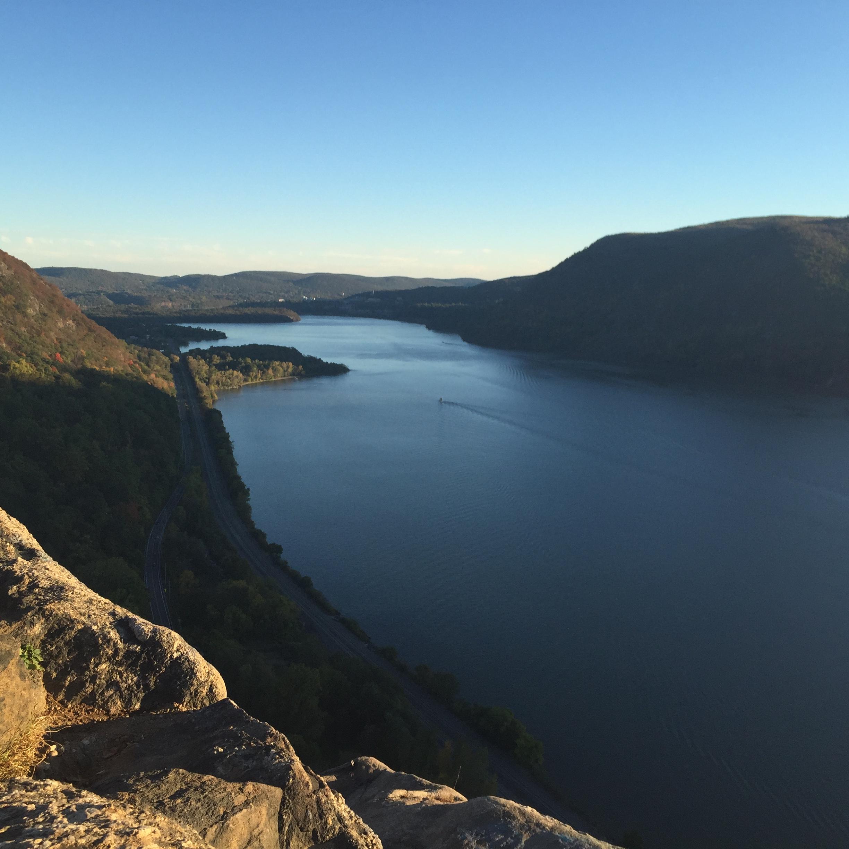 Breakneck Ridge Overlook toward West Point