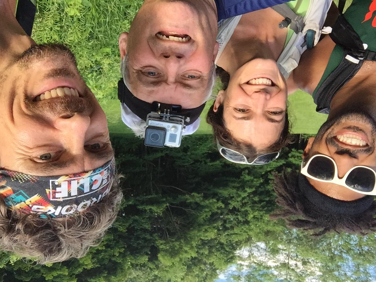 From Left: Knox Robinson, Kali Bird, Chris Cassone, Scott Jurek. Photo by Chris Cassone