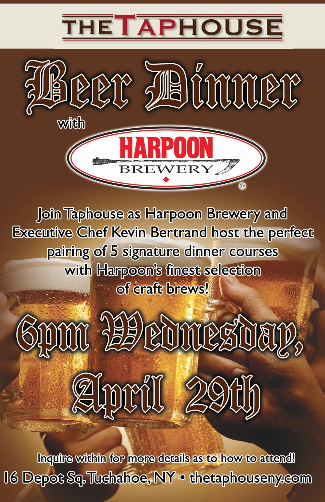 The Tap House Harpoon Brewery Beer Dinner