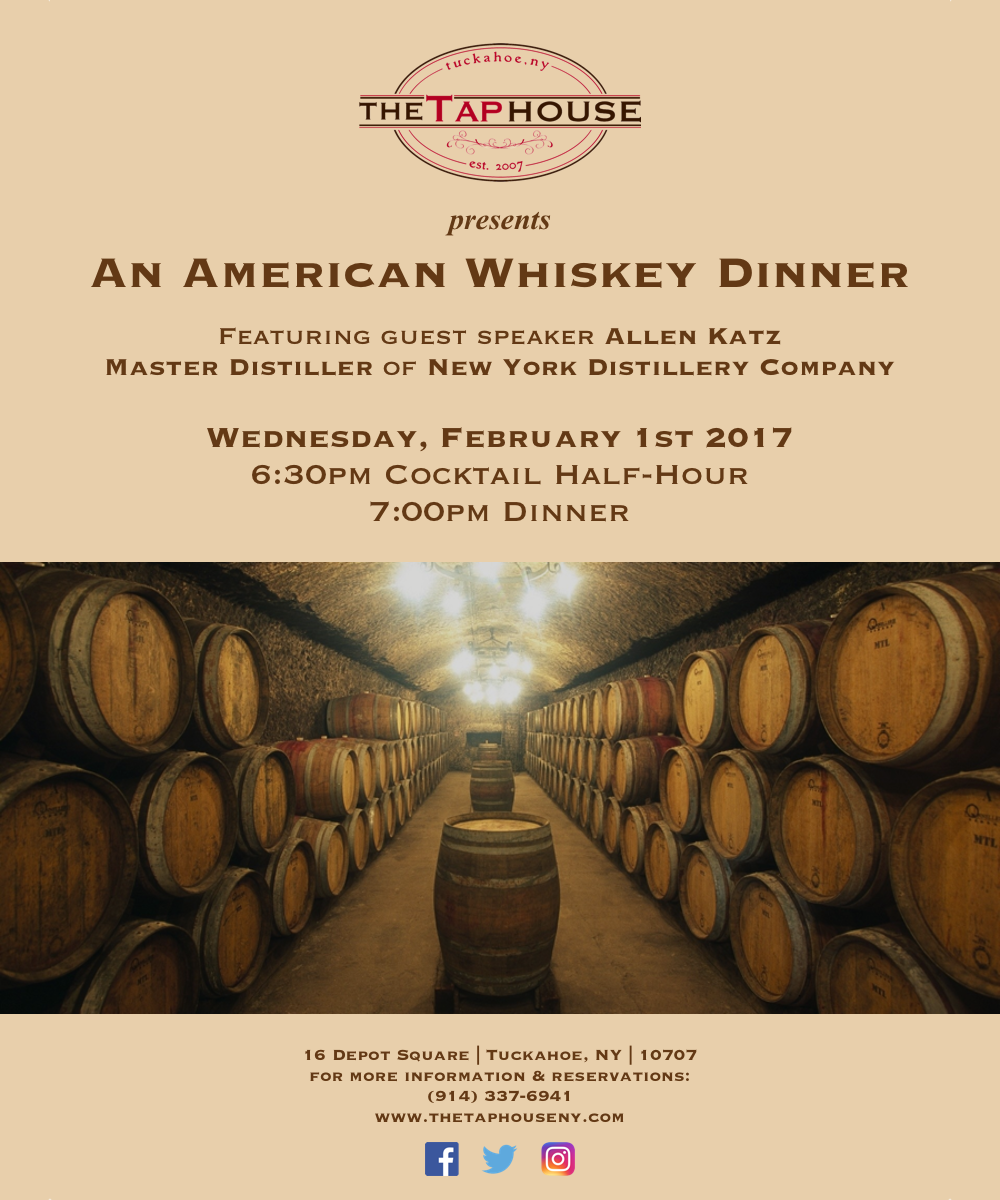 The Tap House American Whiskey Dinner