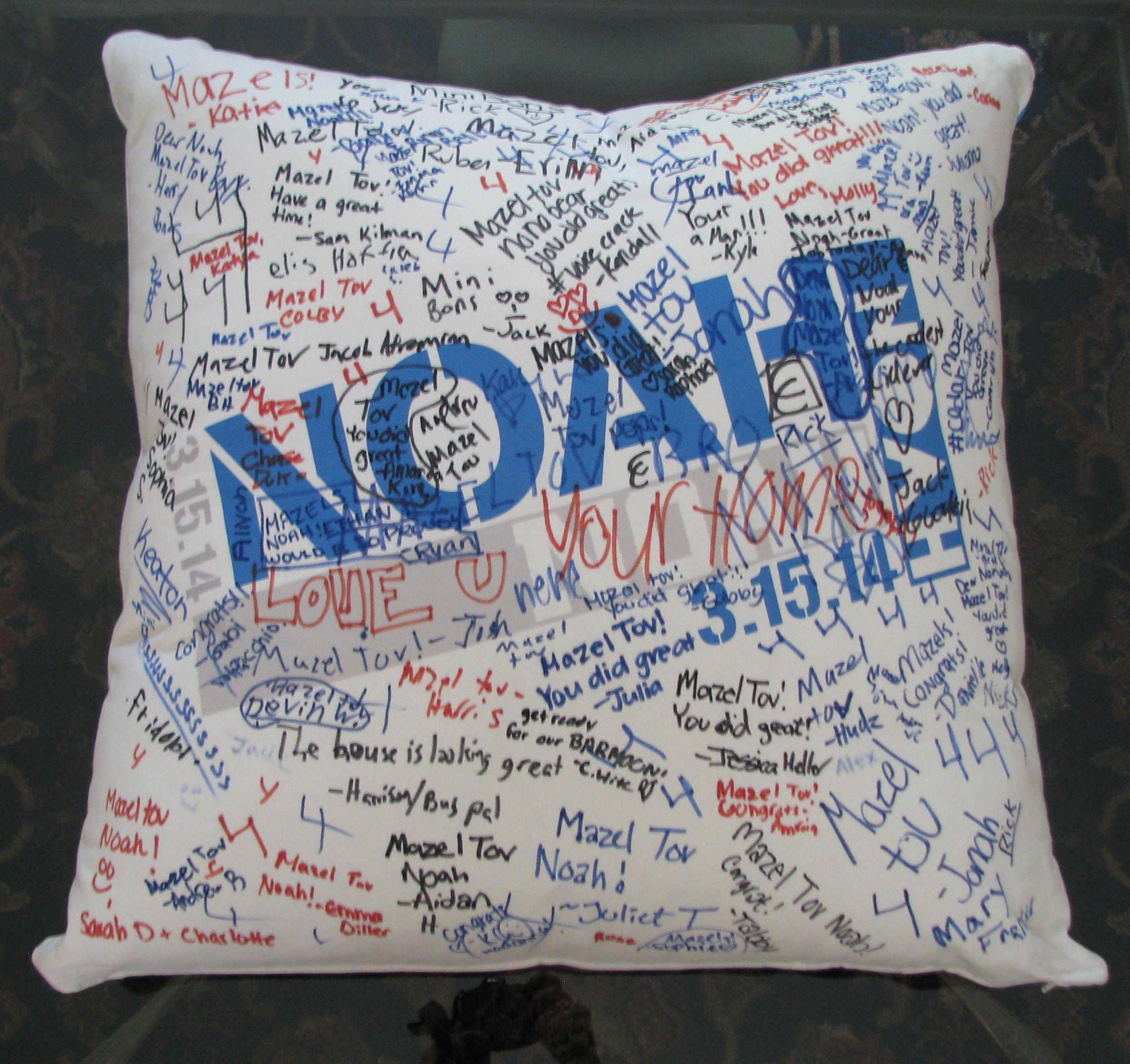 """NOAH'S STENCIL (27"""") FLOOR PILLOW"""