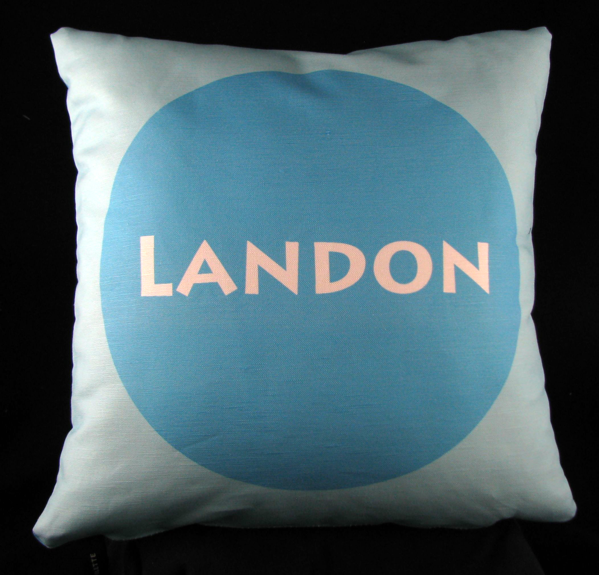 Center Circle Personalized Pillow Available in both cotton and minky.