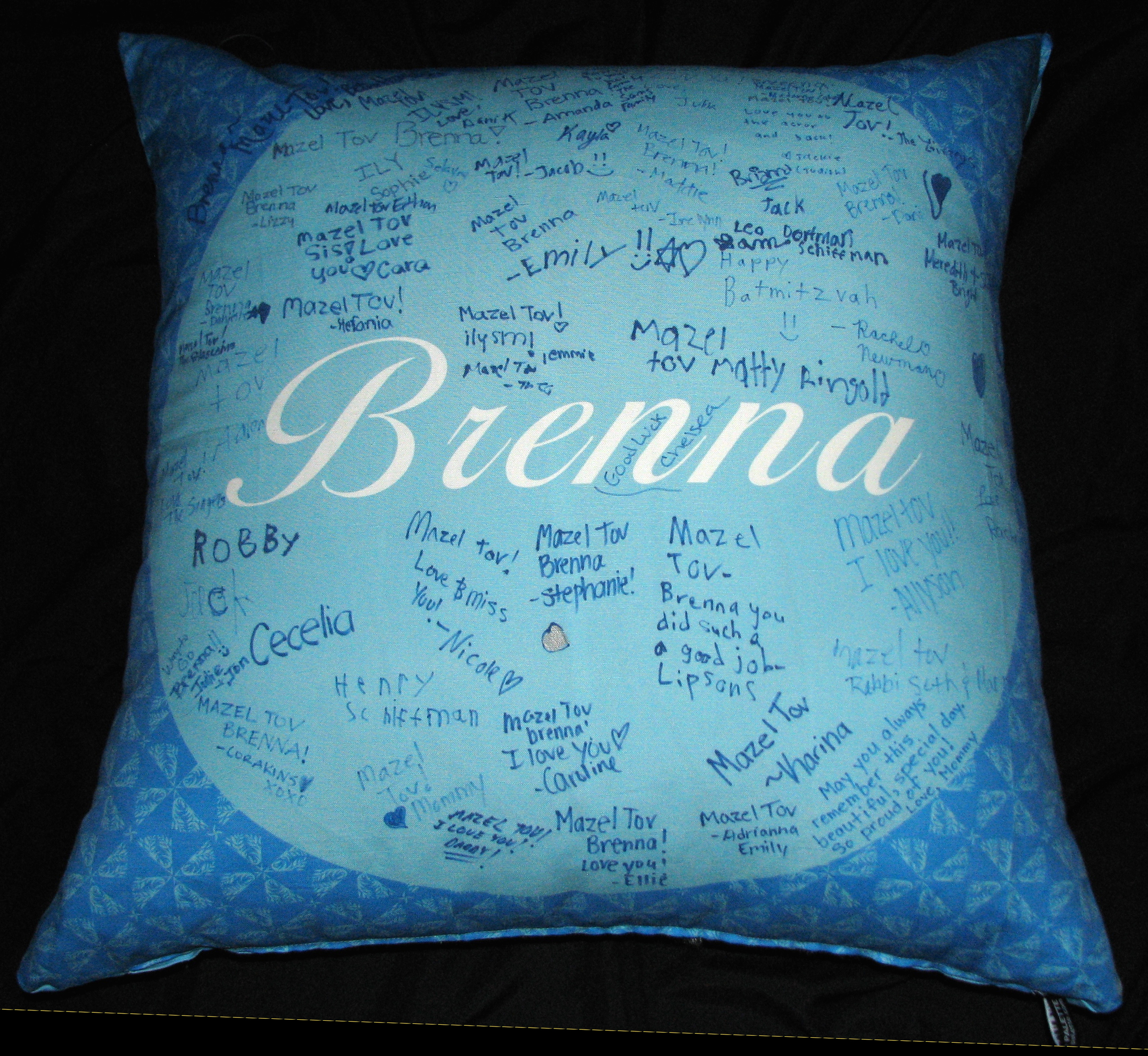 "BRENNA'S BRIGHT BLUE (27"") PILLOW"