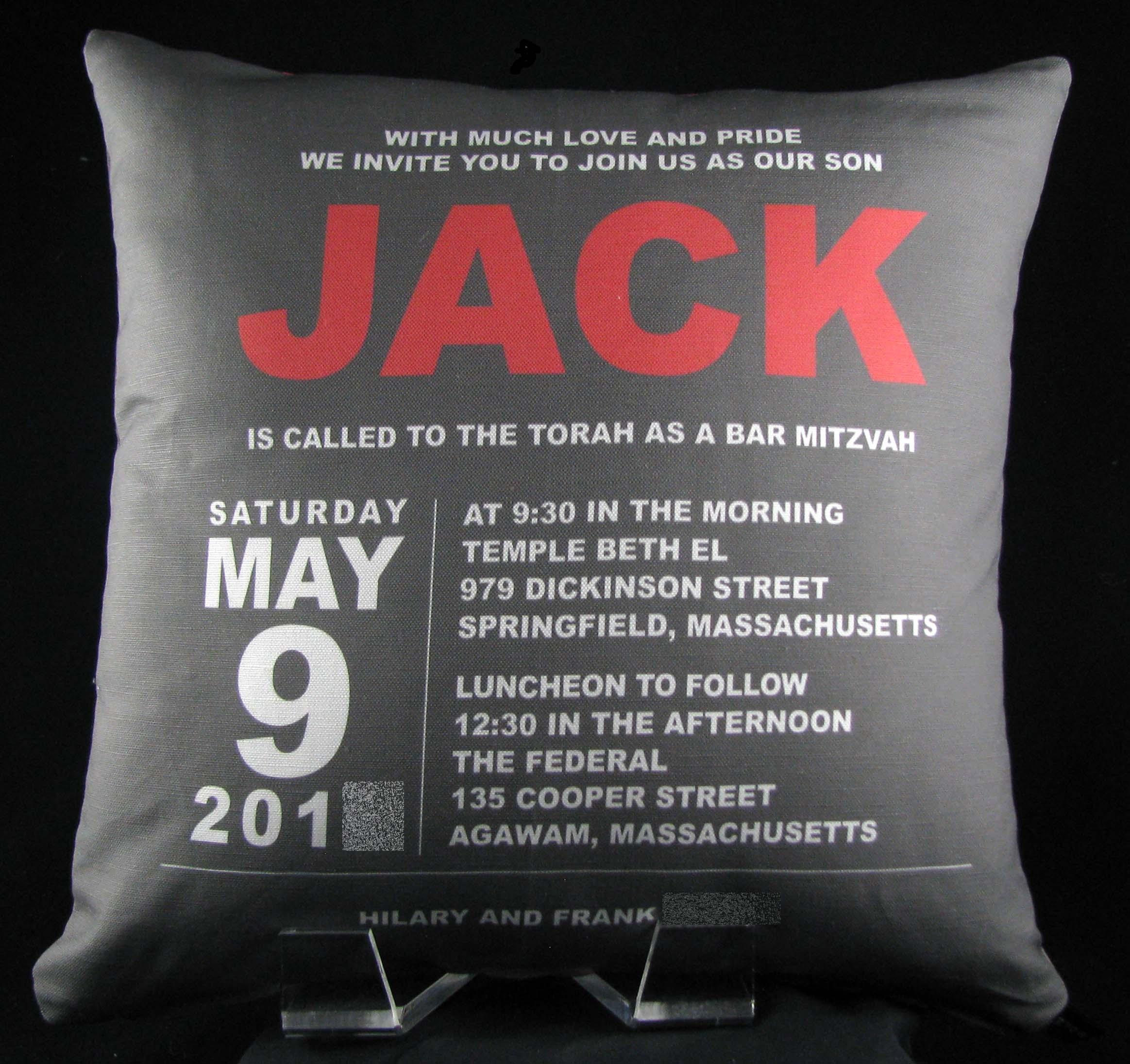 JACK'S BLOCK LETTER PILLOW