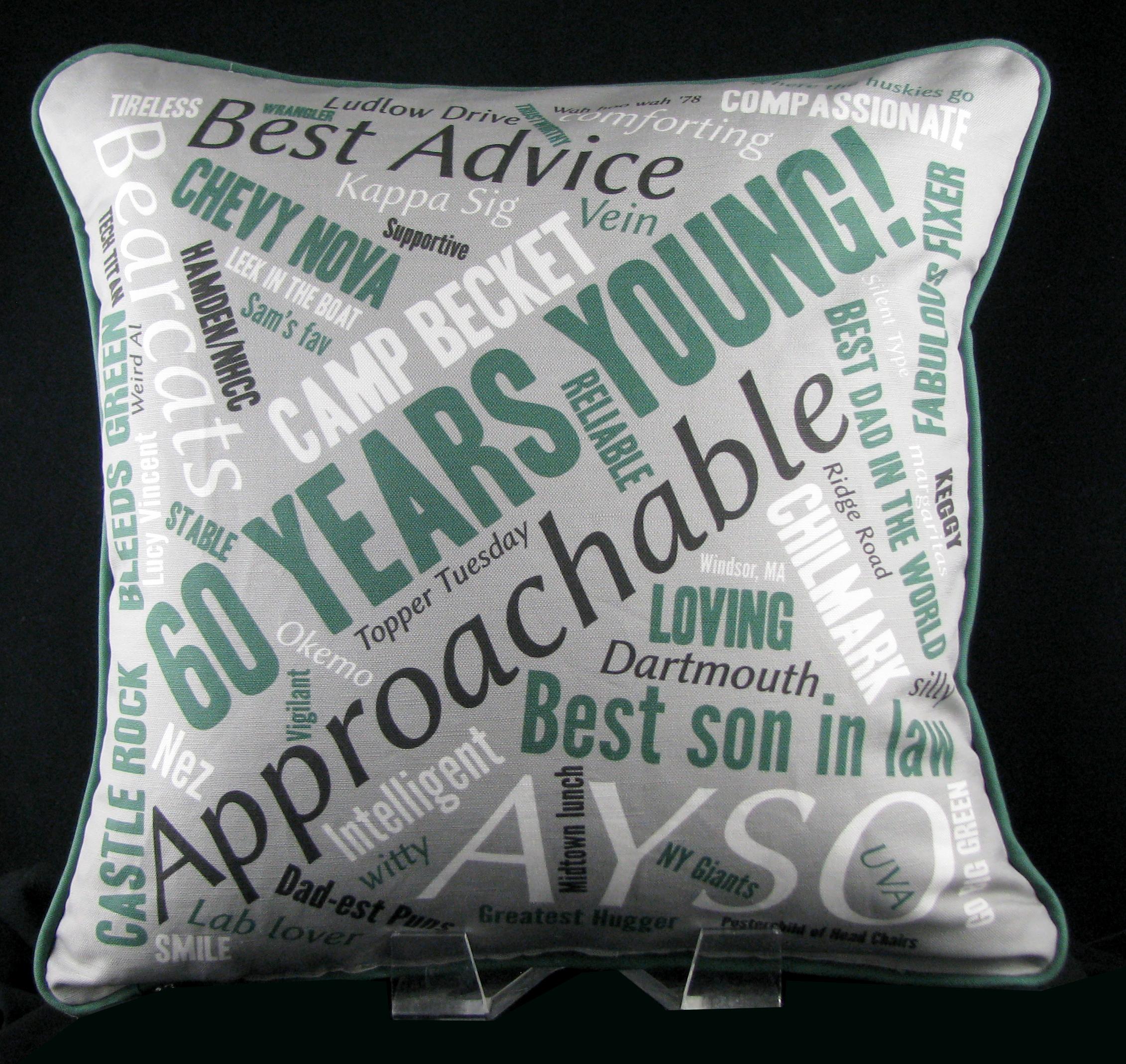 60th Birthday Pillow