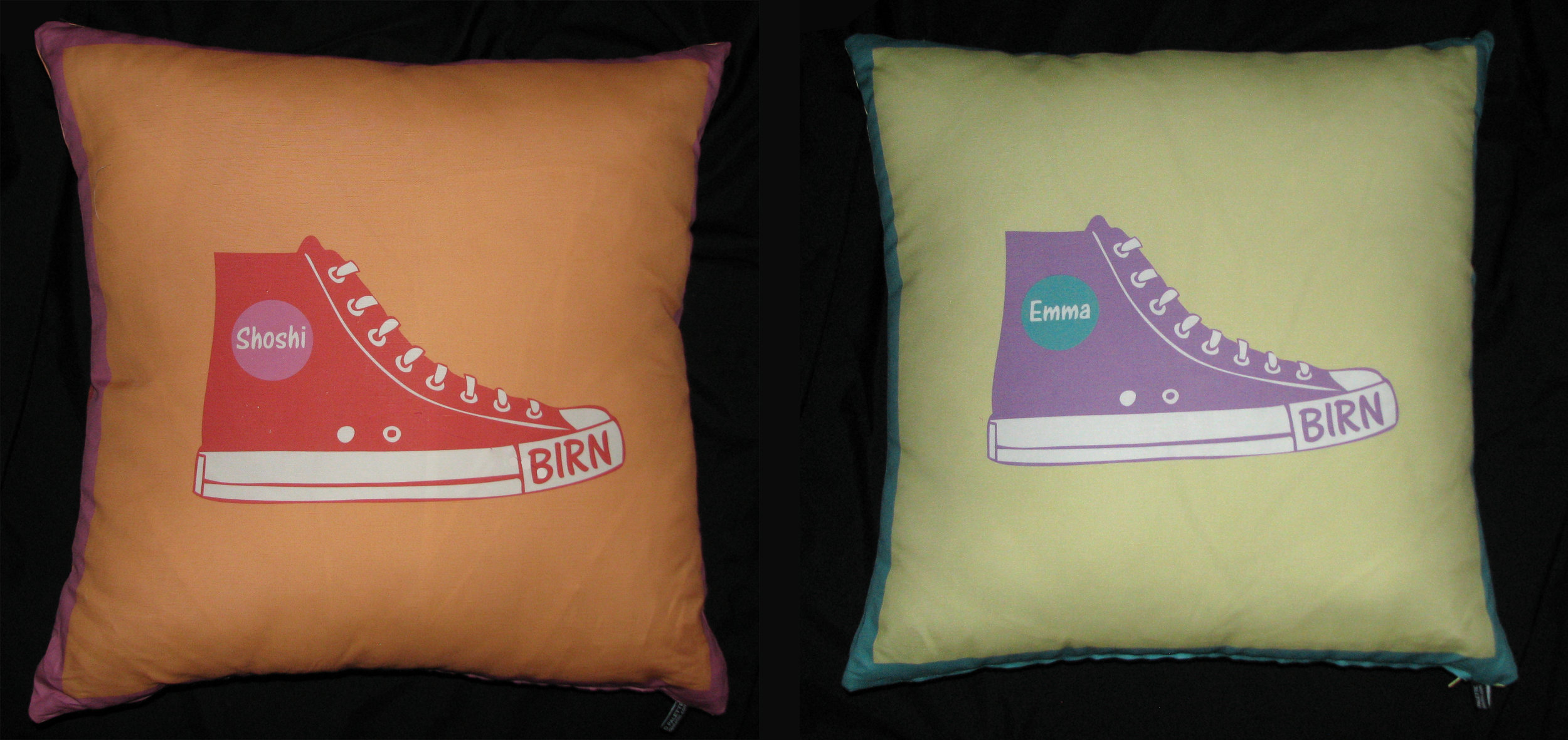 "SHOSHI AND EMMA'S (24"") SNEAKER PILLOWS"