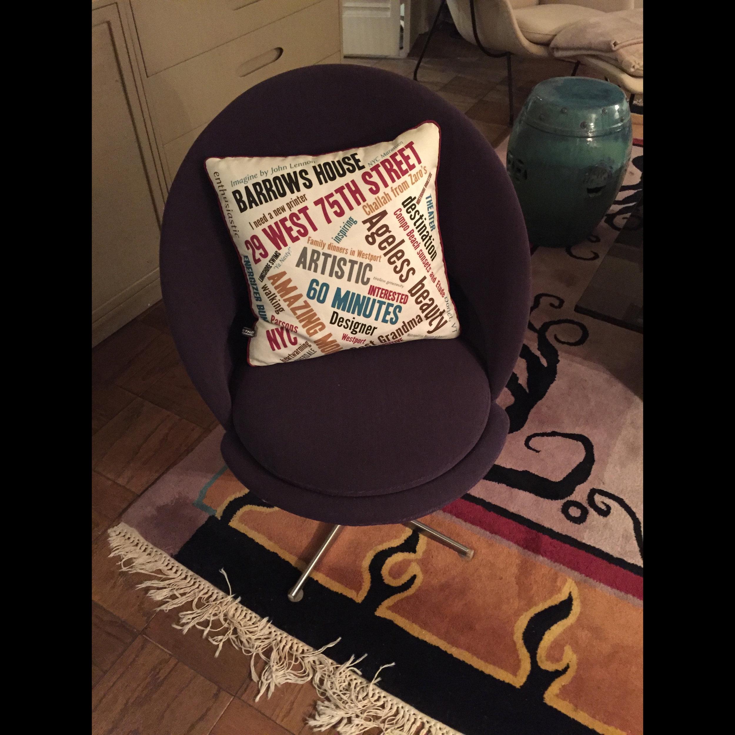 Wordcloud pillow