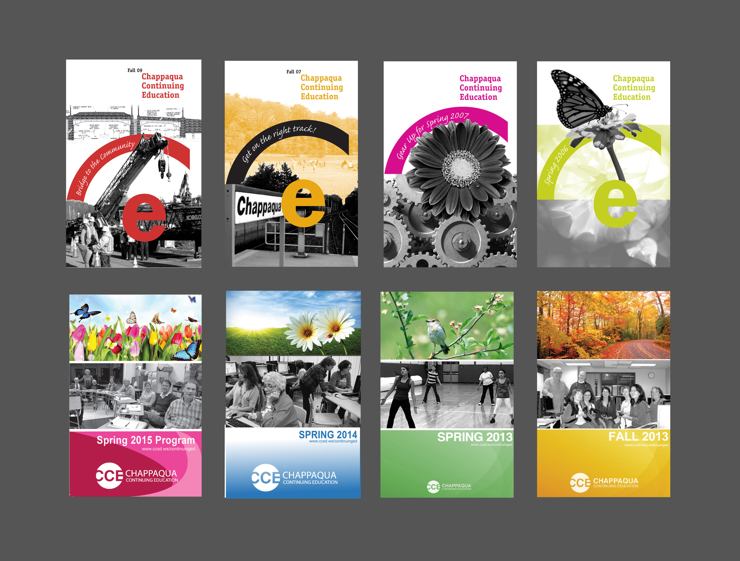 Program covers from 8 semesters of continuing education course offering brochures!