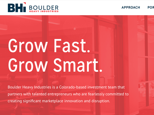 Boulder Heavy Industries - Currently live, I did the exploration and wire-framing of this site as the design team at IMM put the beautiful touch to this.