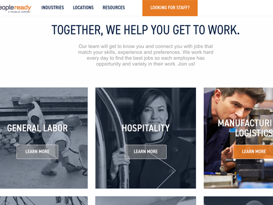 PeopleReady.com - People Ready is live. I was the UX lead at IMM and will show the process and wire-framing of this site soon.