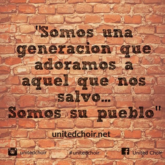 """Descarga """"Somos su Pueblo""""  Download it today! #unitedchoir"""