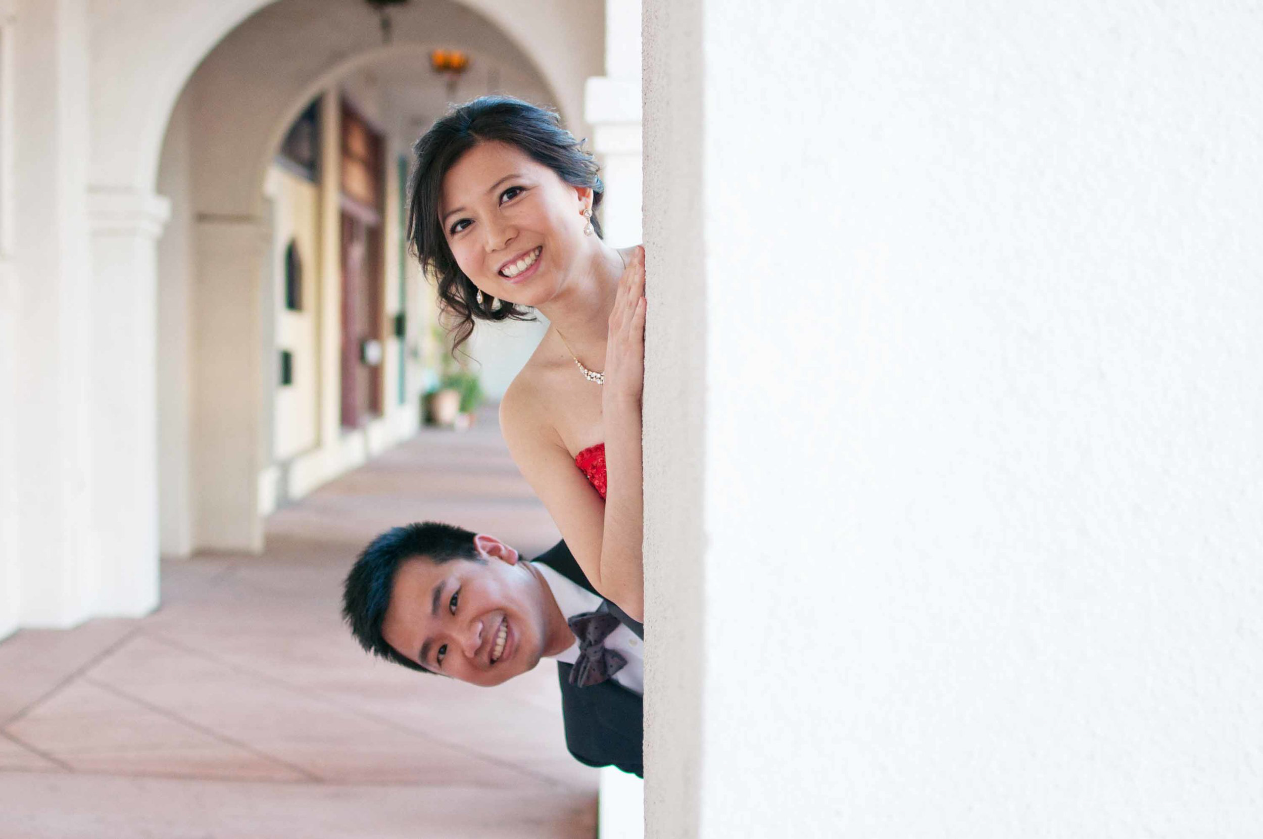 Silly Wedding Couple Portrait