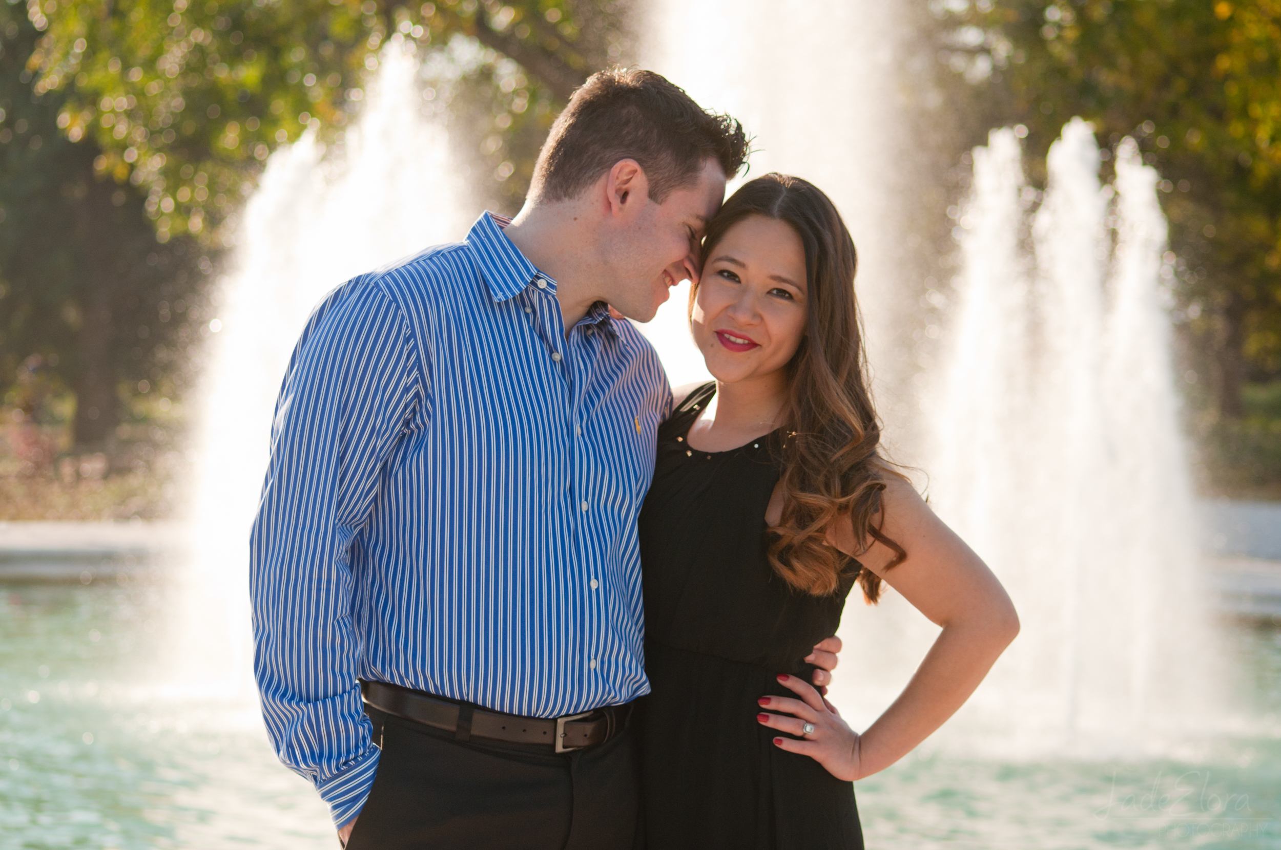 LA Arboretum Engagement Photography
