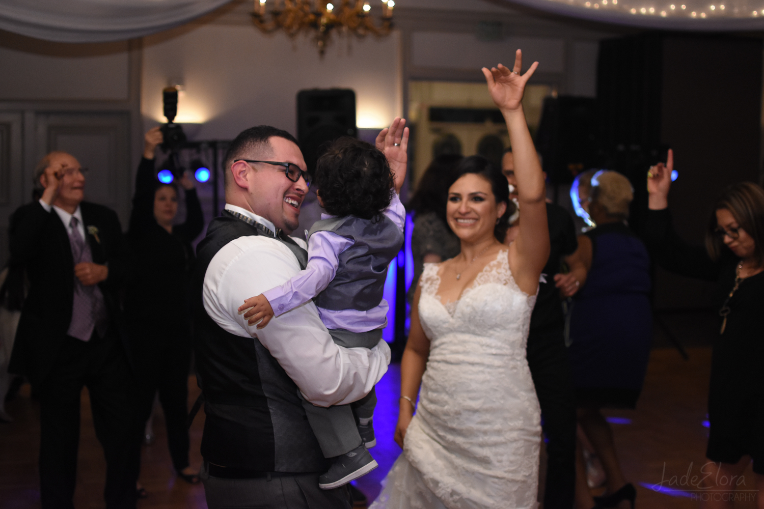 Fun Married Couple Dancing at Reception