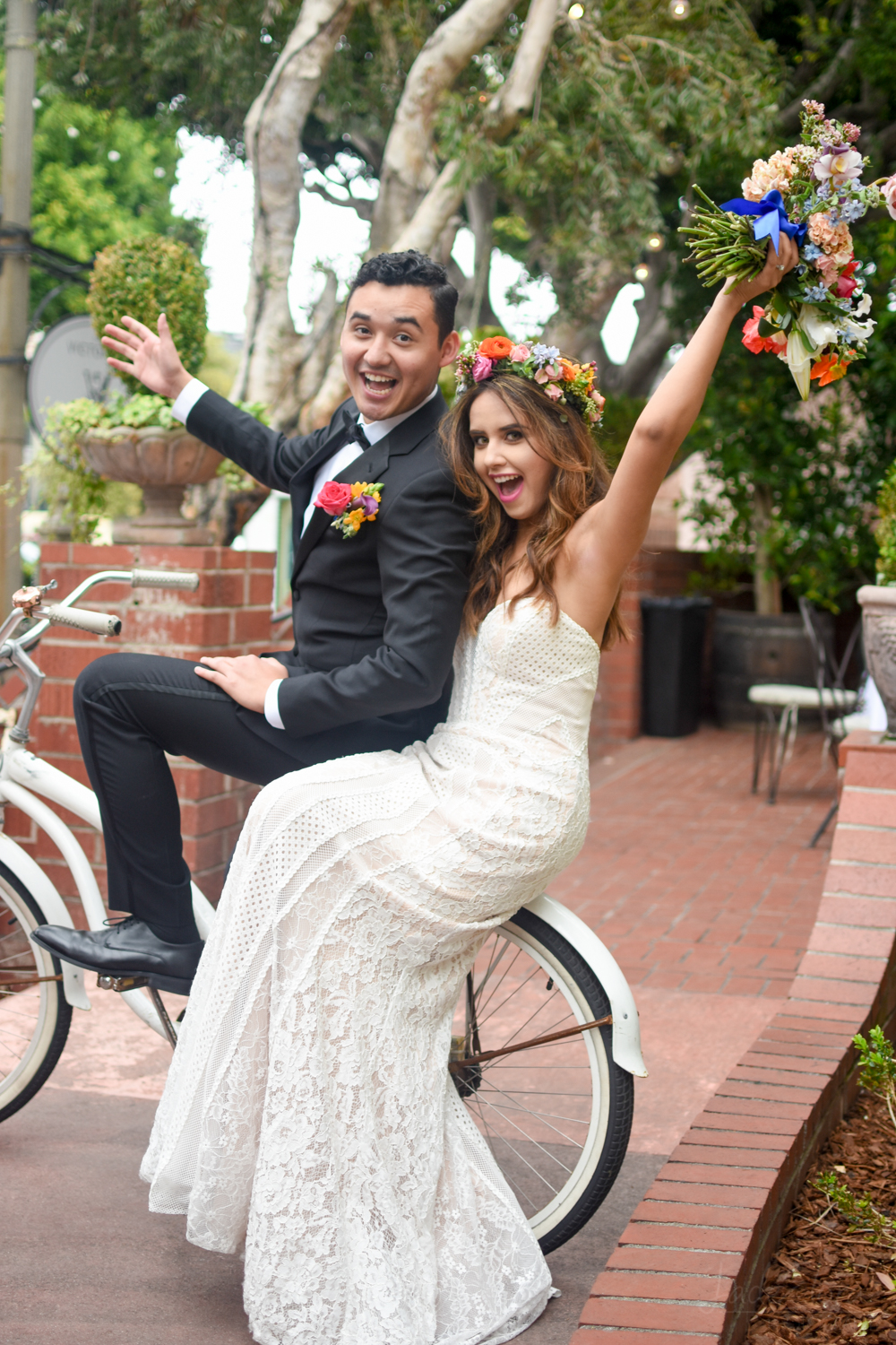 Victorian Santa Monica Wedding Couple Portrait