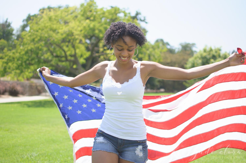 American Flag Patriotic Lifestyle Portrait
