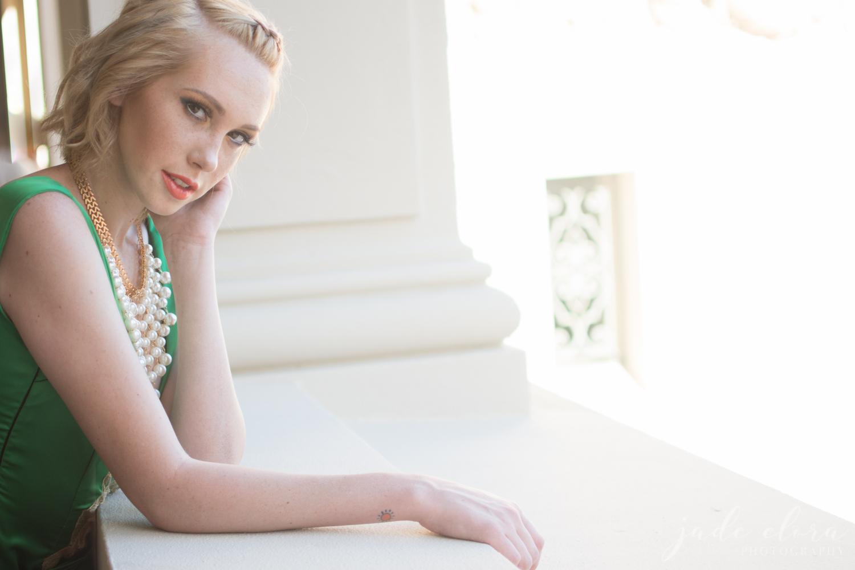 Green Dress Glamour Portrait