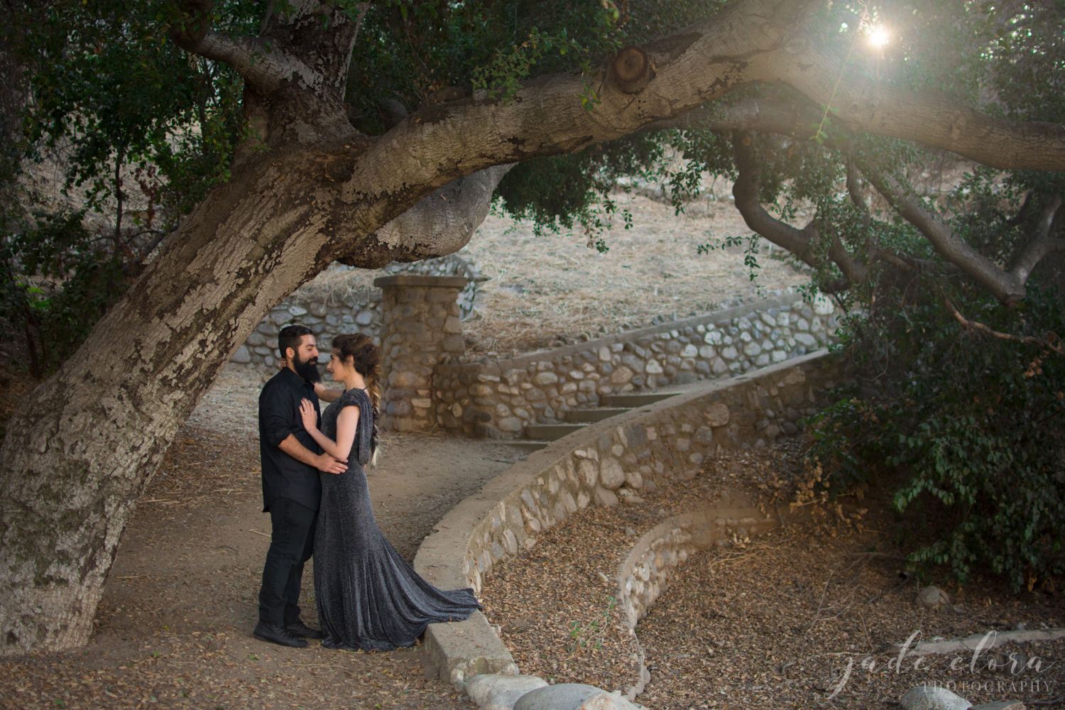 Gothic Forest Engagement Photos in Pasadena