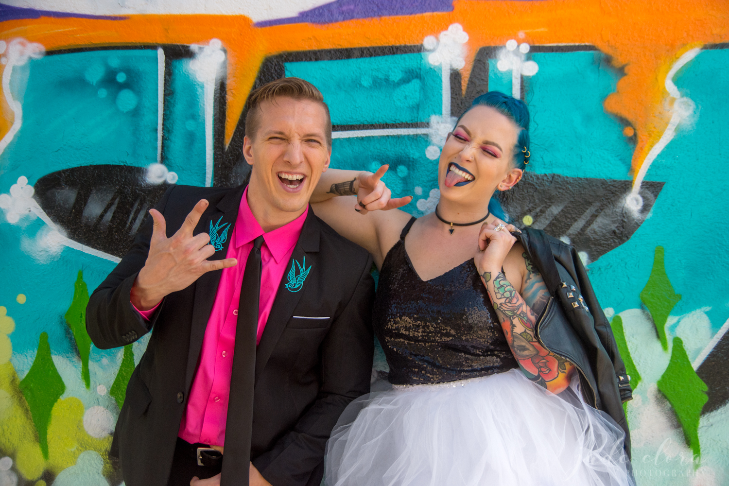 Colorful Punk Rock Wedding
