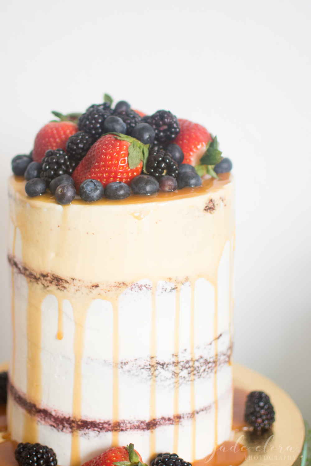 Naked Cake Covered in Berries