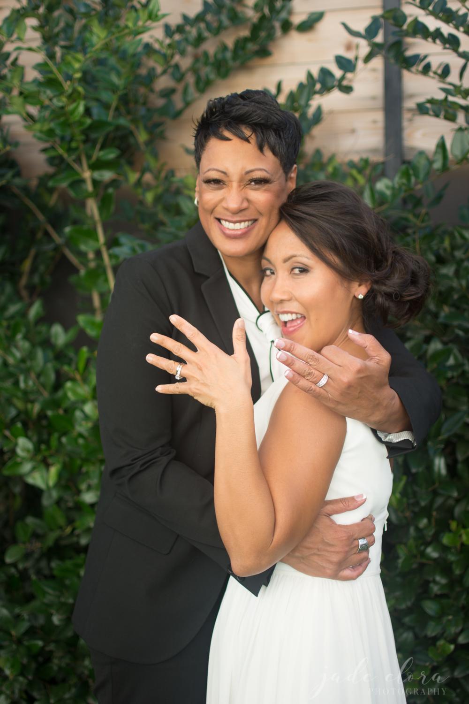 Lesbian Newlyweds Show Off Their Wedding Rings