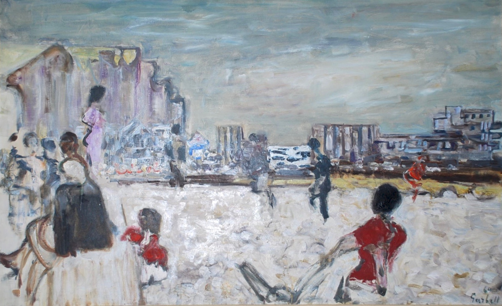 Dimanches a mers-les-baines - Oil on canvas
