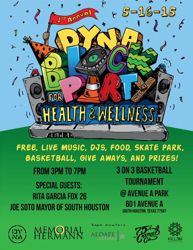 Rita hosted the 1st Annual DYNA Music Group Block Party for Health and Wellness sponsored by Memorial Herman.