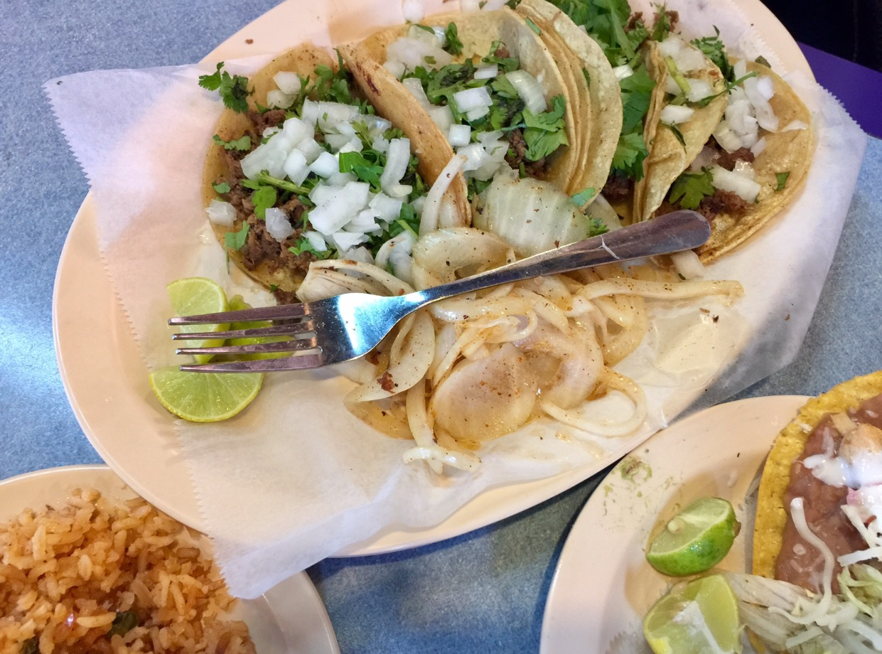 Tacos, tacos, and more tacos!! There's different variations (fajita, trompo, bistek, etc.). While in the RGV...I get to eat all the variations!!...not on the same day though. Lol!