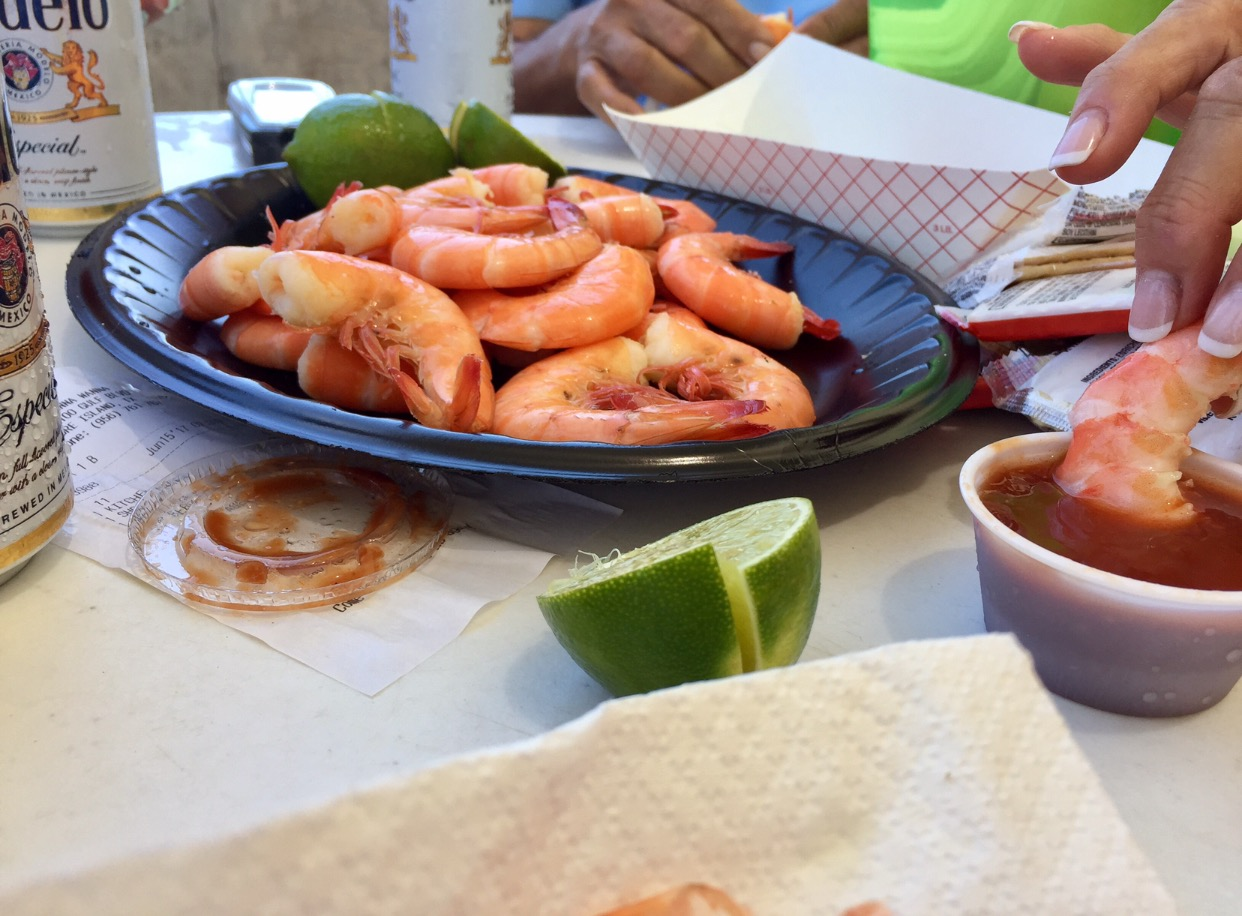 When in the RGV...It's a MUST to visit South Padre Island! And after a good swim at the beach, you've made enough room for peel & eat gulf shrimp. Of course I always ask for extra lime & HOT sauce!
