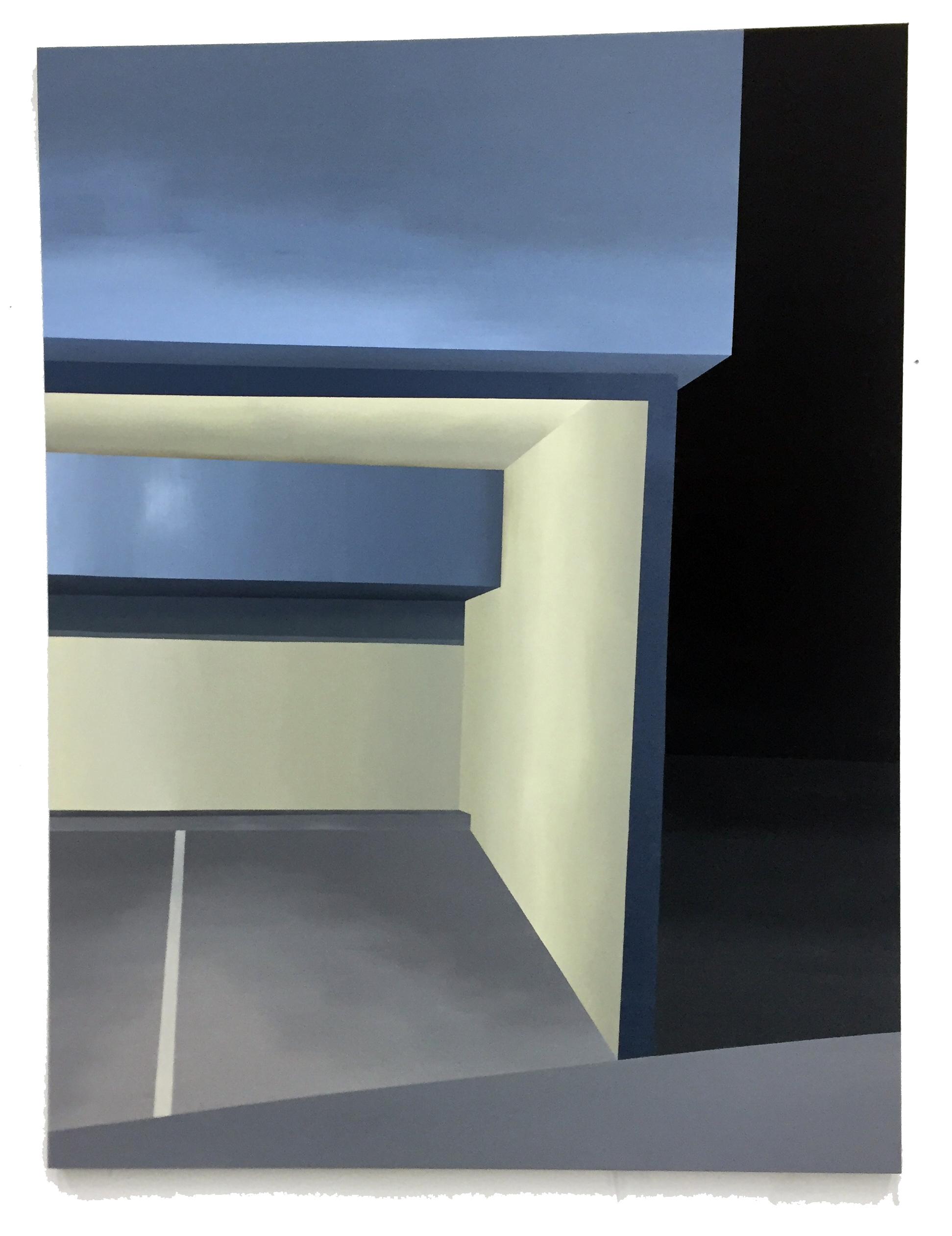 """Grey Area ,Acrylic on canvas, 84 x 64"""""""