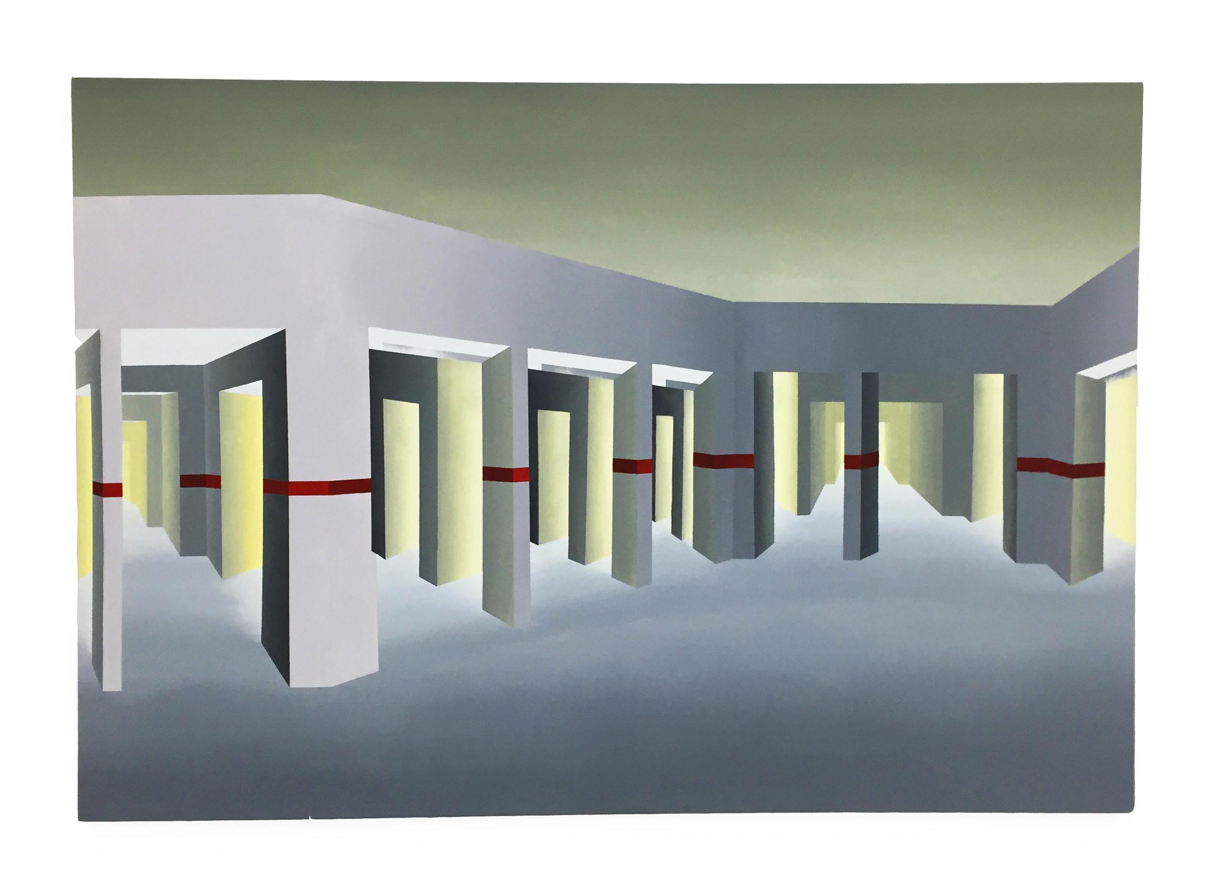 """Eddy's Auto Center ,Acrylic on canvas,72 x 50"""""""