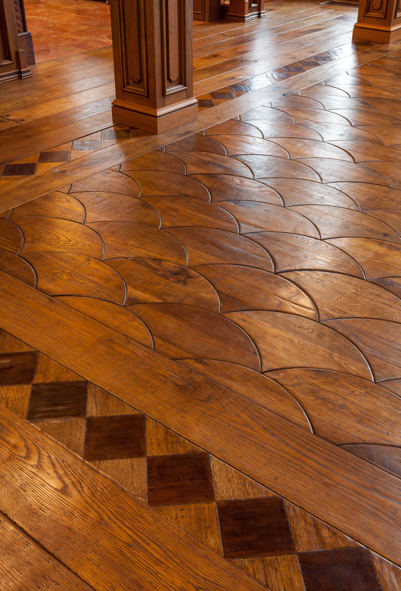 Russian Estate Custom Wood Floor Reclaimed Oak Dovetail