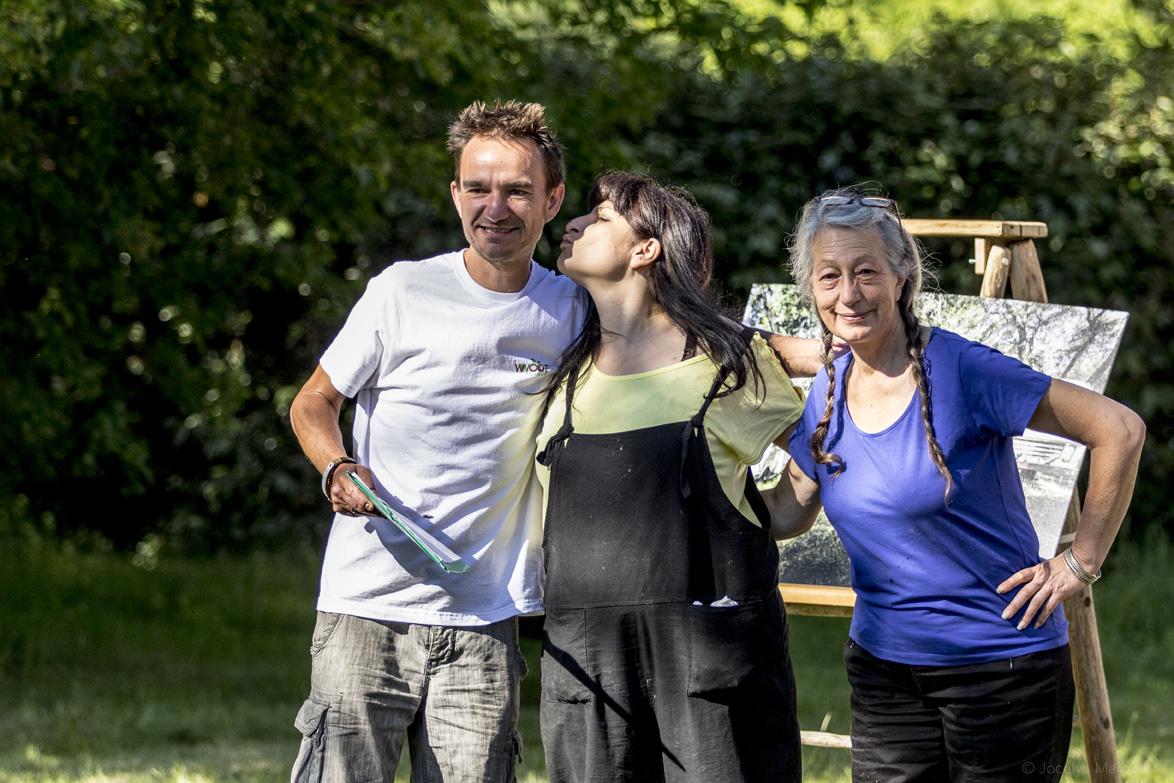 Christelle, Olga : nos hôtes pour le week-end & David MARIE, président de l'association