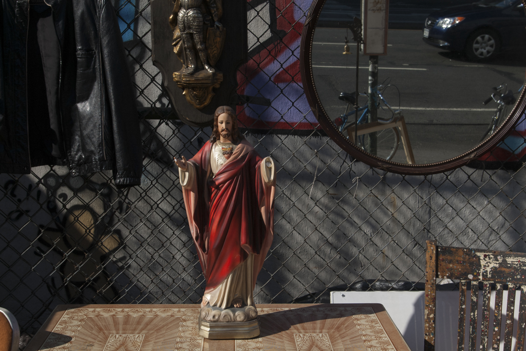 Street Jesus - (2006 - 2008)A slow moving project capturing life for religious artifacts found in everyday life but not necessarily where one would assume to see them. In a world that no longer fears re-appropriation of religious artifacts, icons and symbols we see familiar sites appear in unfamiliar places.