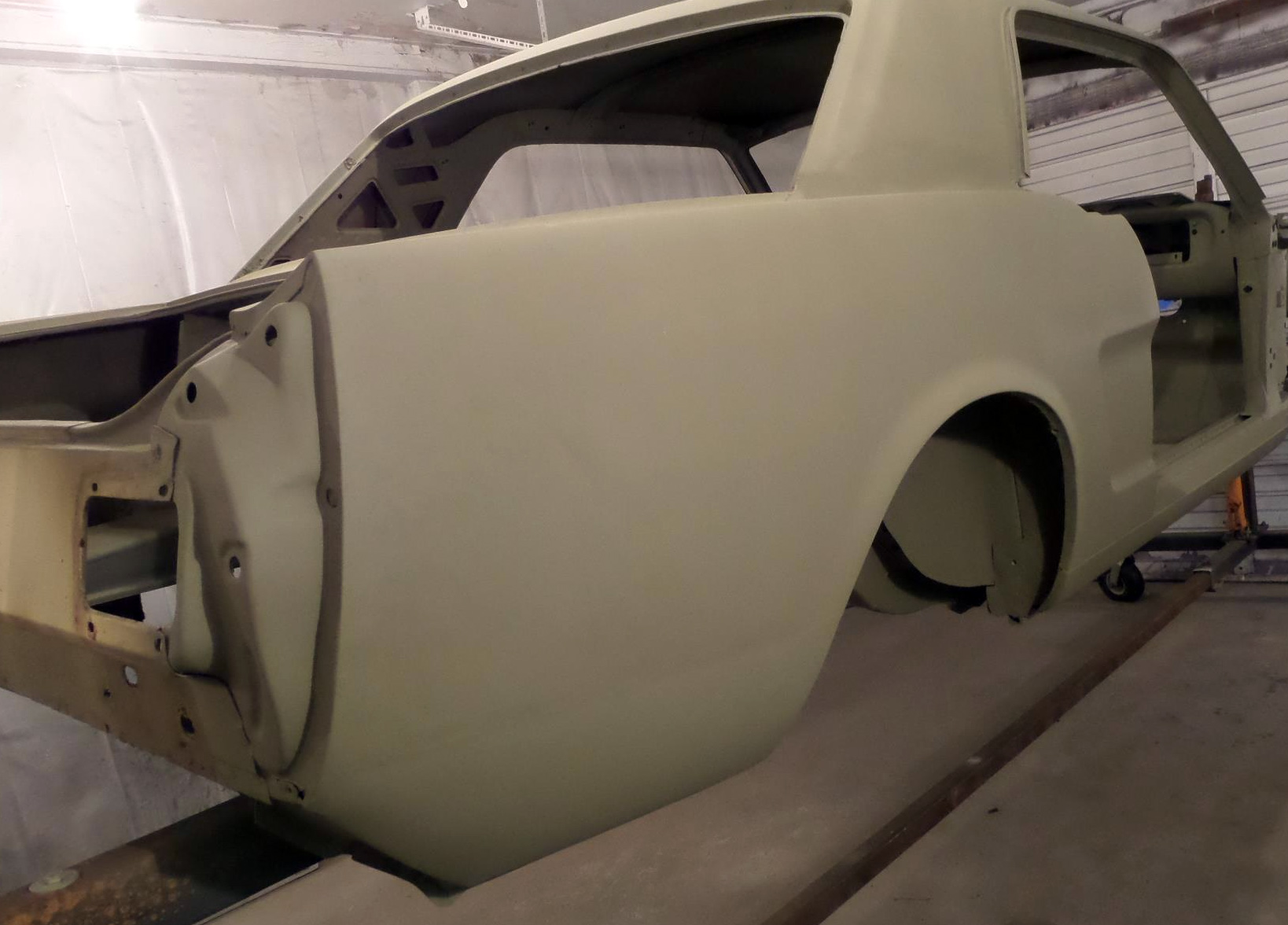 1966 Mustang quarter panel rust repair - after