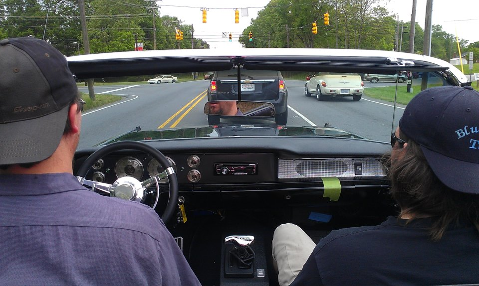 1962 Caddy test driving