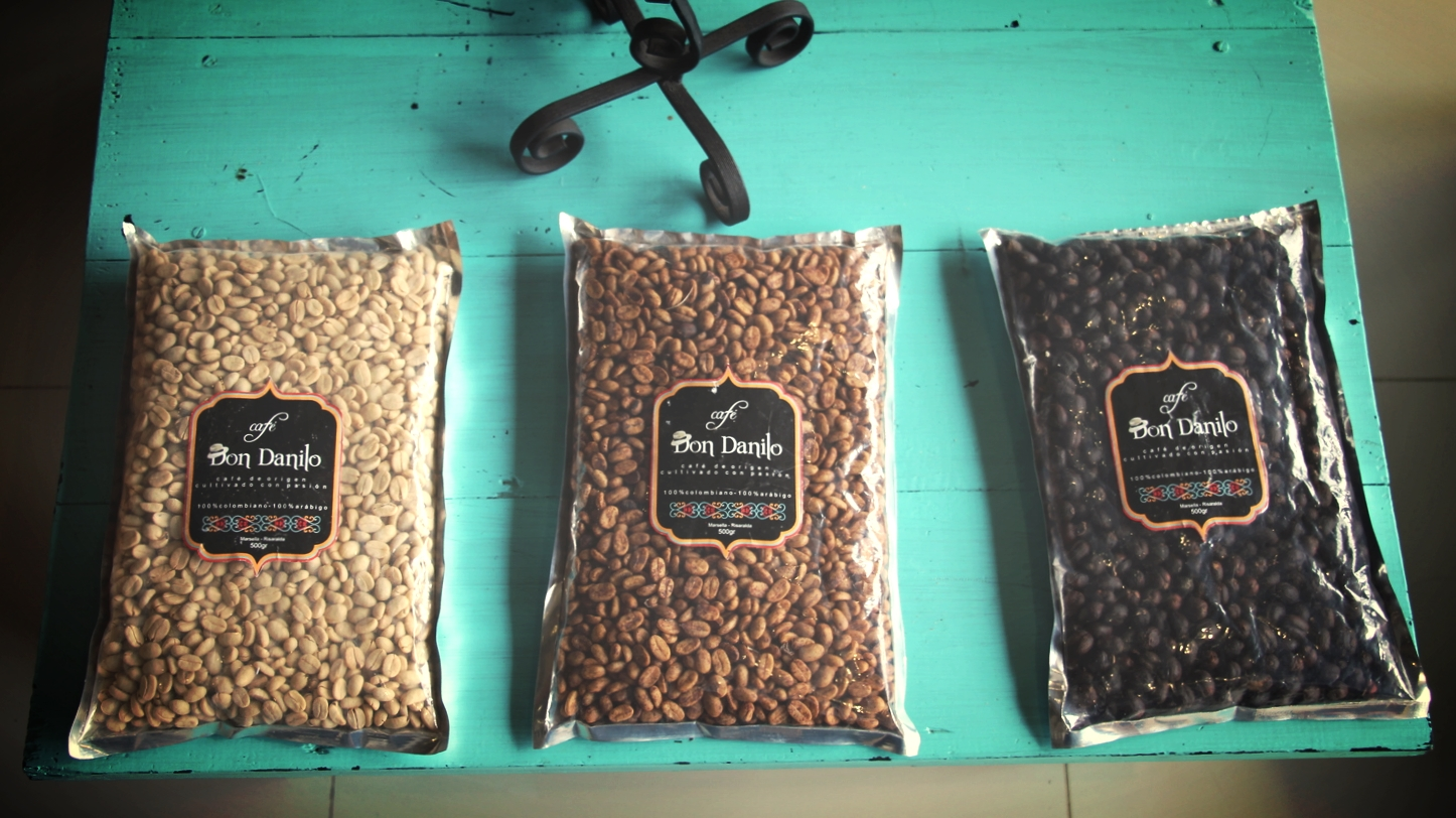 Don Danilo's coffee samples (washed, honey, cherry)