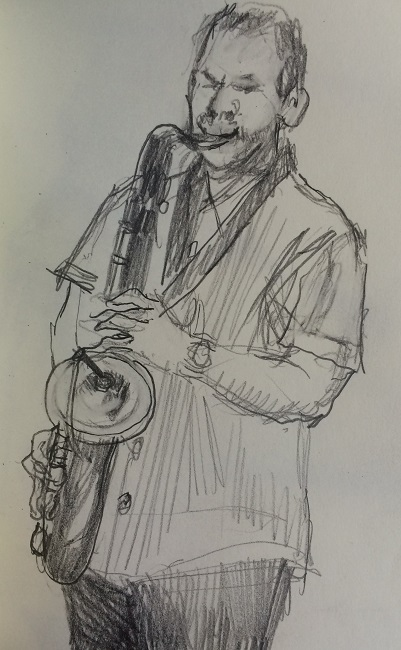 Jazz Quartet Sax Man