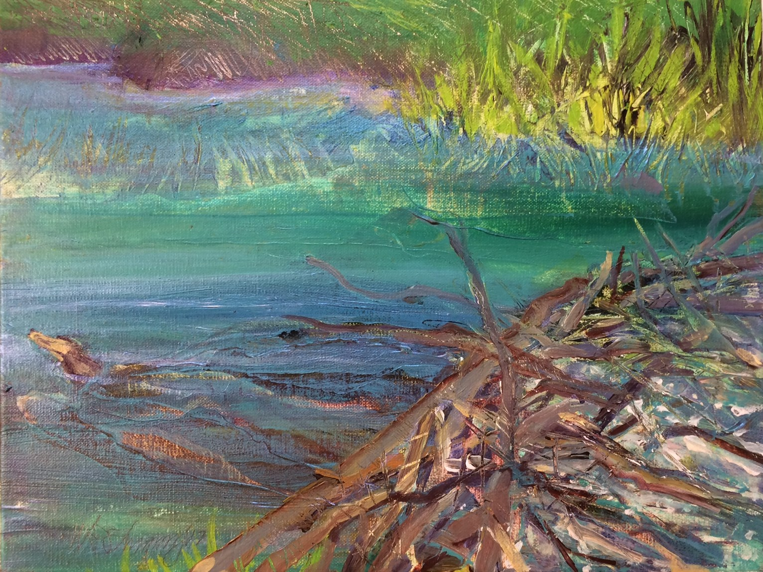 Oak Creek II W.E.Shumway acrylic on Canvas 11h X 14 inches 225..jpg