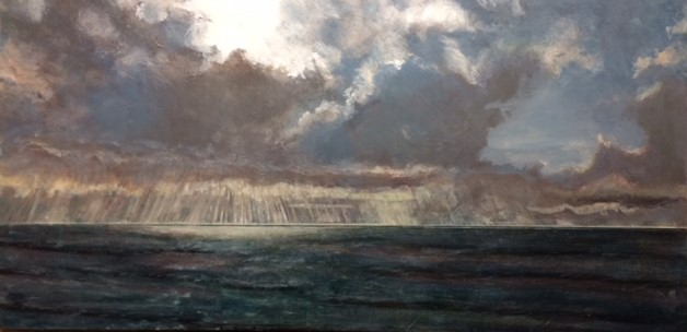 Pacific Storm Front W.E.Shumway acrylic 24 X 48(w) inches 950..JPG