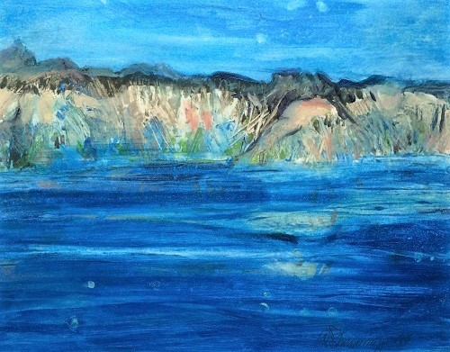 Crater Lake 7 W.E.Shumway acrylic 9.5 X 12(w) inches 475.00.JPG