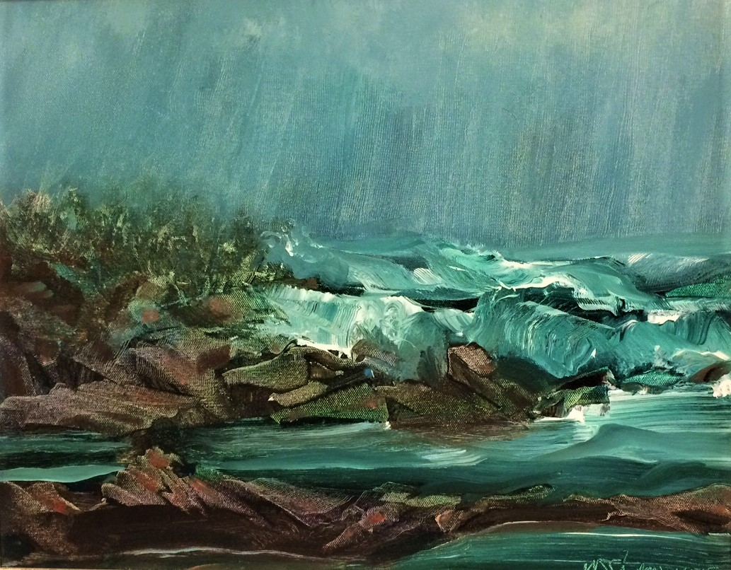 Pacific Storm I    by W.E.Shumway   acrylic   20X24 inches     NFS (ins val 950.).JPG