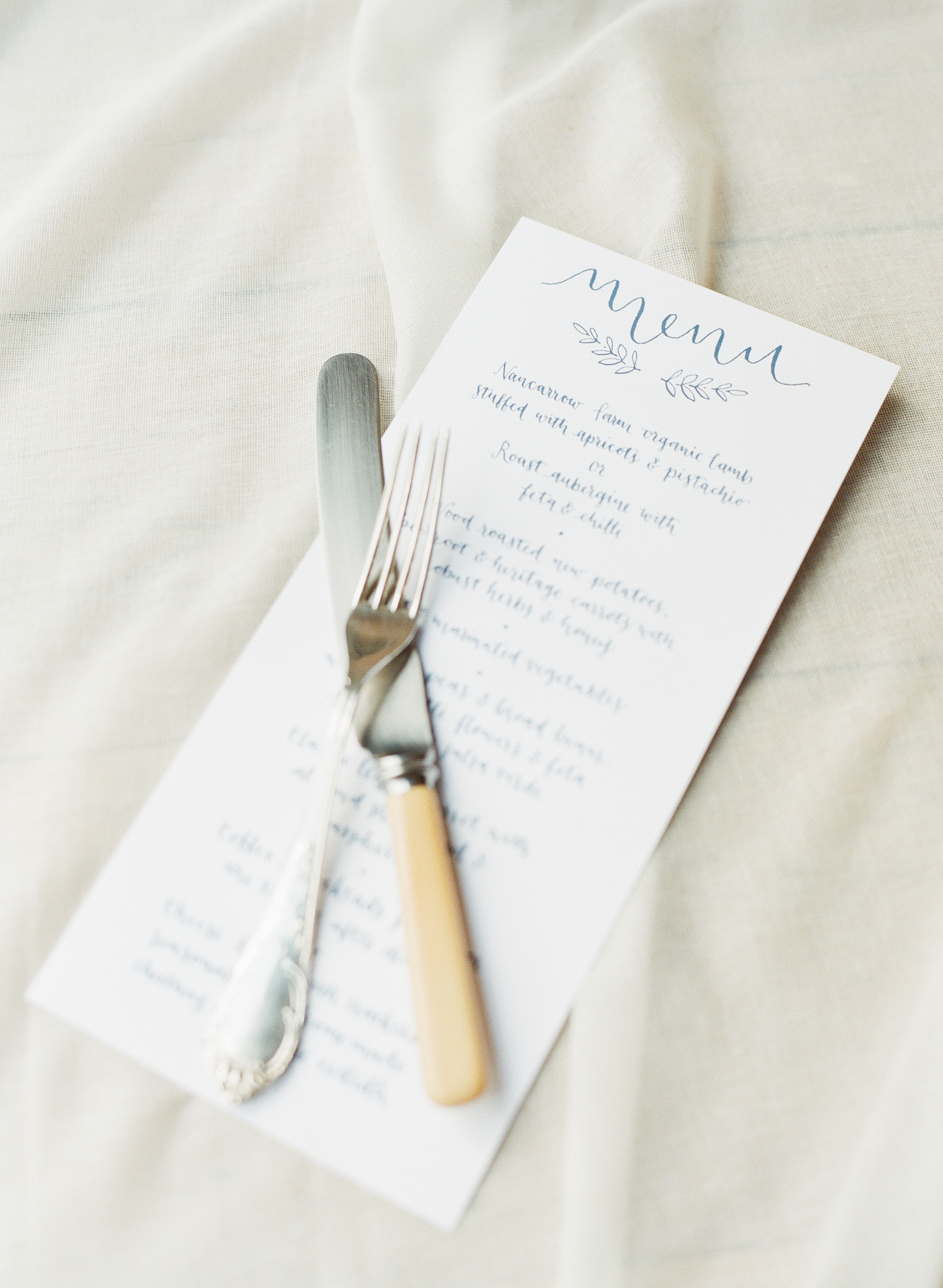 Menus   Hand lettered menus for weddings and other events.